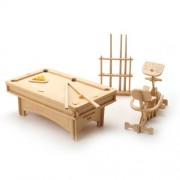 Wood Craft doll house furniture - BILLIARD893