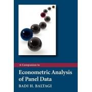 A Companion to Econometric Analysis of Panel Data by Badi H. Baltagi