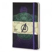 Moleskine the Avengers Limited Edition Notebook, Large, Ruled, Black, Hulk, Hard Cover (5 X 8.25)