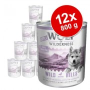 Voordeelpakket Little Wolf of Wilderness 12 x 800 g Hondenvoer - Gemengd pakket
