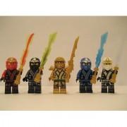 New 2013 Lego Ninjago Kimono Ninjas - Set of 5 - (Loose) From Original Packaging - Cole Jay Kai Golden Lloyd & Zane