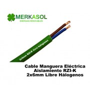 Cable RZI-K 2x6mm Libre Halogeno