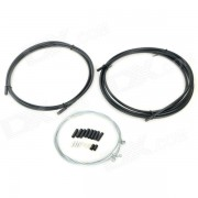 GUB SIS PVC Brake Cable + Stainless Steel Shift Cable Set for Racing / Mountain Bike - Black