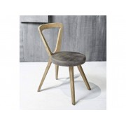 Chaise design en bois de noyer ou de chêne