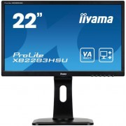 "Monitor VA LED iiyama 21.5"" XB2283HSU, Full HD (1920 x 1080), VGA, DVI, DisplayPort, 5 ms, Boxe, Pivot (Negru) + Bitdefender Antivirus Plus 2017, 1 PC, 1 an, Licenta noua, Scratch Card"