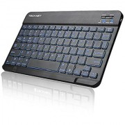 TeckNet Ultra-Slim (4mm)Illuminated Bluetooth Wireless Keyboard(US Keyboard Layout)