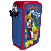 Mickey Club House UVA Fragola - Estuche de lápices con cremallera (incluye bolígrafos)