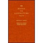 Notes to Literature: v. 1 by Theodor W. Adorno