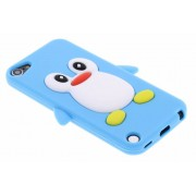 Turquoise pinguin siliconen hoesje voor de iPod Touch 5g / 6