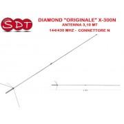 "DIAMOND ""ORIGINALE"" X-300N ANTENNA 3,10 MT 144/430 MHZ - CONNETTORE N"