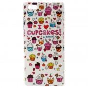 Capa de TPU para Huawei P8 Lite - Cupcakes