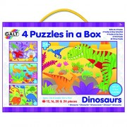 Galt Four Puzzles in a Box 72 Piece Dinosaurs