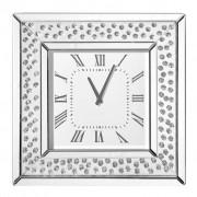 Ambia Home UHR Grau, Glas, Holz, 50.5x50.5x5.3 cm