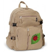 Ladybug Backpack Canvas Ladybugs Travel or School Bag