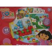 Jeu Dora L'exploratrice, Fantacolor Evolution, 94 Pièces, 40 Clous, 8 Dessins, 40 Lettres, 6 Cartes