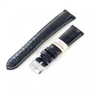 cinturino morellato in vera pelle di alligatore louisiana colore nero 22 mm
