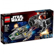 TIE Advanced of Lego Star Wars Darth Vader vs A wing starfighter 75150