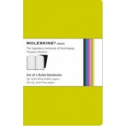 Moleskine Volant Extra Small Ruled Green by Moleskine