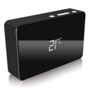 Icy Box IB-PBa5000 Power Bank 5.000mAh con Orologio/Sveglia - Nero