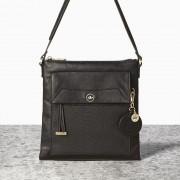 Malá černá kabelka crossbody kabelka NICA s velkou kapsou