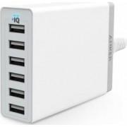 Adaptor retea Anker 6 porturi USB Alb