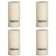 Bolsius класически свещи 200 x 100 мм, цвят слонова кост - 4 броя