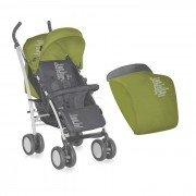 Bertoni kolica S-100 footcover grey&green beloved