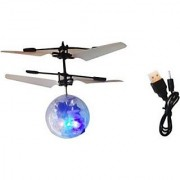 Zivaha Flying RC Ball Infrared Flash Aircraft Flashing Light Remote Toys For Kids