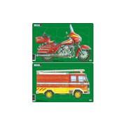Larsen Midi Puzzle - Motorkerékpár vagy Tűzoltóautó U1