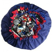 100% cotton with good quality craft cord-No more picking up blocks. Just pull the cords to tidy up! great for lego bl