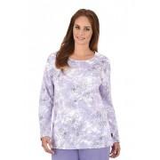 Trigema Damen Schlafanzug-Oberteil Größe: XXL Material: 100 % Baumwolle, Ringgarn supergekämmt Farbe: lilie