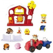 Clickeroos Funky Farm and Farm Tractor Toy Set