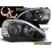 Přední světla, lampy Angel Eyes Opel Corsa C 00-06 černá H7