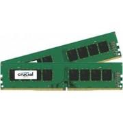 Kit Memorie Crucial 2x4GB DDR4 2400MHz CL17 Single Rank x8