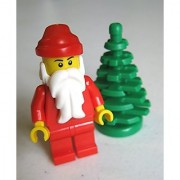 Lego Santa Claus Minifigure with Christmas Tree