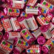 Mini Love Hearts Retro Sweets 100G