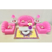 Barbie Size Dollhouse Furniture- Living Room Set