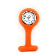 E966 heren verpleegsterhorloge / -klok Silicoon Oranje