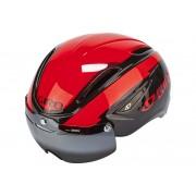 Giro Air Attack Shield Casco rosso/nero 55-59 cm Caschi biciclette da corsa