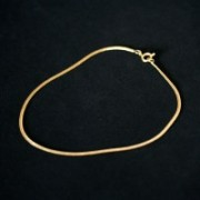 Semi anklet Jewelry Gold Plated Tail Rat