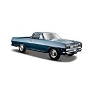 Maisto 31977 1:24 Scale Chevrolet El Camino 65 Model Car (Metallic Blue)