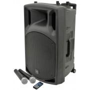 Qtx Qx15pa Portable 100w Pa Unit Inc 2x Radio Mics For Aerobics Speech