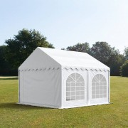 tendapro.it 4x4m Tendone per feste, PVC ignifugo bianco