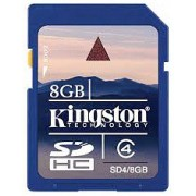 Kingston SDHC 8GB (Class 4) (SD4/8GB)