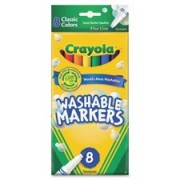 Crayola Classic Fine Line Washable Marker , 8 per pack 24 packs per case