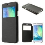 Husa Flip Cu Fereastra Samsung Galaxy A300M/DS Piele PU Neagra