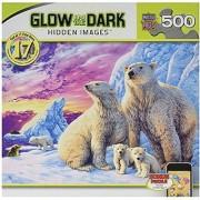 Masterpieces Arctic Friends Hidden Image Glow Jigsaw Puzzle (500-Piece)