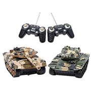Liberty Imports Deluxe RC Fighting Battle Tanks - Set of 2 Infrared Remote Control Battling Tanks