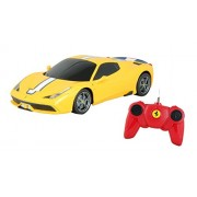 Toyhouse Officially Licensed Rastar Ferrari 458 Speciale A 1:24 Scale Model Car, Yellow