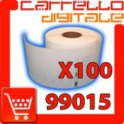 Etichette Compatibili con Dymo 99015 Bixolon Seiko 100 Rotoli